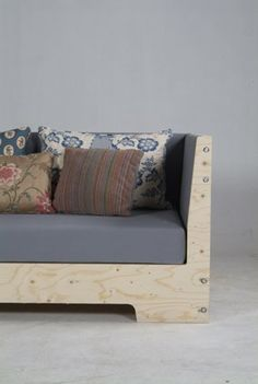 Our love affair with plywood drives our friends crazy. It's such an honest material, it's light, it's unexpected, and when you get tired of it you can always paint it. Here's a sofa from Dutch designer Piet Hein Eek that's got us thinking DIY...
