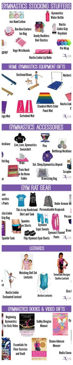 the ULTIMATE Gymnast Gift Guide//I think its mostly for younger girls but some of it is stillpretty cool, especially the equipment and t-shirts All About Gymnastics, Gymnastics Room, Gymnastics Quotes, Gymnastics Gifts, Gymnastics Leotards, Cheerleading Quotes, Gymnastics Stuff, Cheer Quotes, Olympic Gymnastics