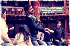 Rehearsal of Twelfth Night in Hindi by Company Theatre     (c) Fiona Moorhead
