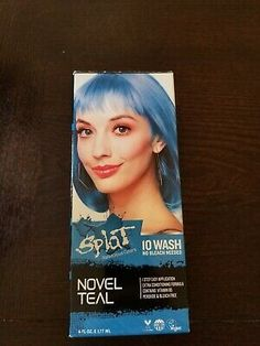 Ad Splat 10 Wash No Bleach Hair Dye Novel Teal Color Light
