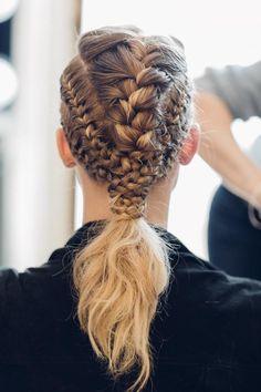 Cheveux Lagertha, Lagertha Hair, Cute Hairstyles, Braided Hairstyles, Wedding Hairstyles, Viking Hairstyles, Stylish Hairstyles, Hair And Beard Styles, Hair Styles