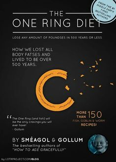 I laughed too hard at this. Middle Earth dieting plan!