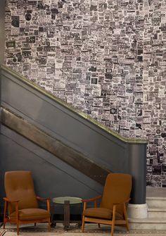 roman & williams collage wallpaper