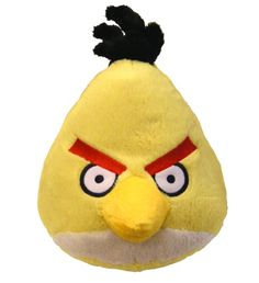 Angry Birds Plush 5-Inch Yellow Bird with Sound - there are a range of angry birds plush toys ranging in size and depicting popular characters from the game.  Hugely addictive.  http://topfuntoysforkids.blogspot.com