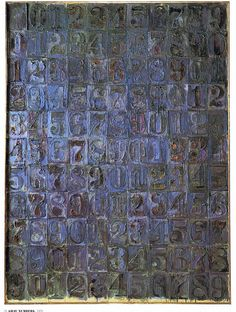 Jasper Johns ~ Gray Alphabet ~ 1968 ~ Lithografie ~ 130,2 x 87,5 cm. ~ Museum of Modern Art, New York © Jasper Johns Foundation