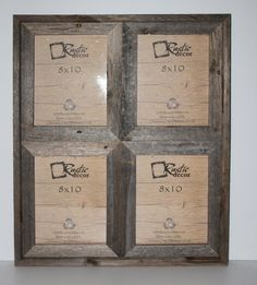 Rustic Barnwood Window Frames - 8x10 Picture Frames - Holds 4 Photos or Prints