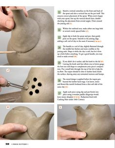 "From ""Pinch Pottery: Functional, Modern Handbuilding"" by Susan Halls"