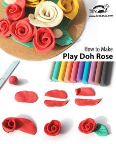 How to Make Play Doh Rose