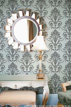 77 Best Antique Mirrors Images Stencil Designs Stencil
