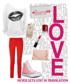 """""""Valentines Day❤️"""" by peacock2003 on Polyvore featuring Michael Kors, Converse, Casetify, Tory Burch, Essie, MAC Cosmetics, women's clothing, women's fashion, women and female"""