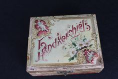 Vintage Victorian Celluloid Handkerchief Box Pink by PeggysTrove