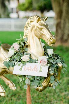 carousel horse card holder