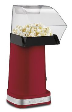 Enjoy Healthier Popcorn Pop healthier popcorn with hot air! The #Cuisinart EasyPop Hot Air Popcorn Maker is exceptionally easy to use. Kernels go into a popping ...