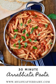 Spicy, filling, and easy to make, this Arrabbiata Meat Sauce has it all. This spicy, meat sauce coats pasta perfectly making a delicious and easy Italian dinner in just 30 minutes. Make this dairy free meat sauce for a filling weeknight dinner. #arrabbiata #meatsauce #pasta Dairy Free Recipes Easy, Yummy Pasta Recipes, Dinner Recipes, Creamy Garlic Sauce, Homemade Hamburgers, Meat Sauce, 30 Minute Meals, Food Staples, How To Cook Pasta