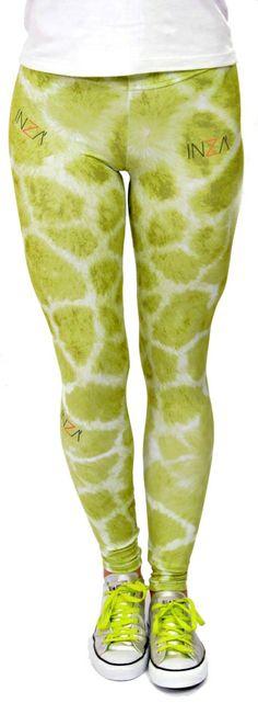 Inza Green Giraffe Legging