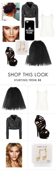 """Fancy leather"" by g1itter14 ❤ liked on Polyvore featuring Ballet Beautiful, Oasis, Glamorous, Red Circle, Charlotte Tilbury, Happy Plugs and Casetify"