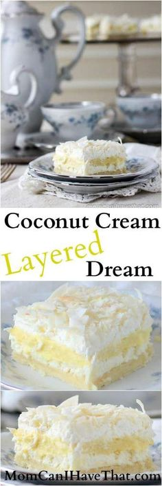Coconut Cream Layered Dream is made from wholesome ingredients and is 6 net carbs low carb gluten-free keto thm-s Coconut Cream Layered Dream is made from wholesome ingredients and is 6 net carbs low carb gluten-free keto thm-s Sugar Free Desserts, Gluten Free Desserts, Dessert Recipes, Keto Desserts, Coconut Recipes, Low Carb Recipes, Cooking Recipes, Healthy Recipes, Diabetic Recipes