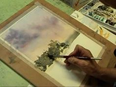 Watercolor Painting Shoal Bay Sunset Part 2 The Background