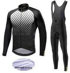 7de433222  Click Image to Buy  2018 Men Mavic Cycling Jerseys Cycling Set Winter  Thermal Fleece