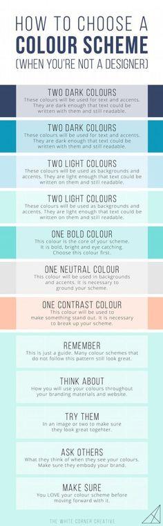 How to choose a color scheme #ColorScheme #ColorPalette #ColorInspiration #DesignTips
