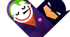 Love and Hate Versus Hearts by Dan Matutina // Joker & Batman Batman Versus, I Am Batman, Joker Batman, Bat Joker, Batman Stuff, Nananana Batman, Heart Projects, Web Design, Graphic Design