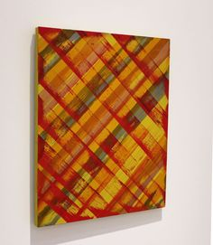 Ed Moses, Red/Gold, Acrylic on Canvas, 30 x 24 inches