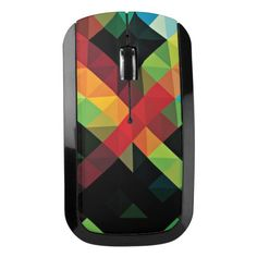with Multi-Touch Surface Vintage Orange and Multi-Color Chevron Pattern V4 Design Skinz Premium Vinyl Decal for The Apple Magic Mouse 2 Wireless, Rechargable