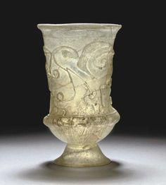 Goblet Roman, 3rd century AD Christie's