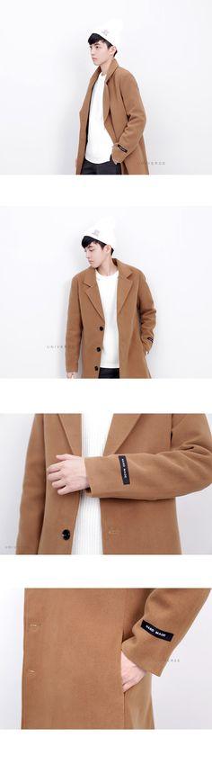 長版三釦大衣 男女適穿:UNIVERSE嚴選男裝-服飾穿搭購物網