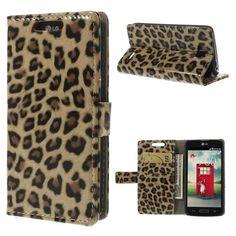 Mesh - LG L90 Hoesje - Wallet Case Luipaard | Shop4Hoesjes