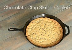Make Dad this amazing Chocolate Chip Skillet Cookie!