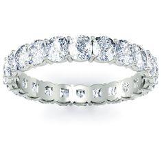 Cushion diamond eternity band.