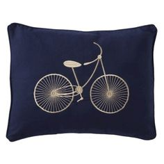 navy bike pillow