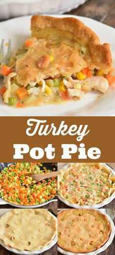Turkey Pot Pie Turkey Pot Pie is very easy to make with ready pie crust, turkey meat, vegetables, and creamy sauce. It's a great recipe for leftover holiday turkey. Easy Leftover Turkey Recipes, Leftover Turkey Casserole, Turkey Meat Recipes, Leftovers Recipes, Shredded Turkey Recipe, Easy Turkey Pot Pie, Chicken Recipes, Turkey Pasta, Easy Pie Recipes