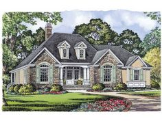 Eplans French Country House Plan - Old World Beauty - 1820 Square Feet and 3 Bedrooms from Eplans - House Plan Code HWEPL10864