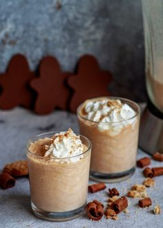 Sütőtökös mézeskalácssmoothie recept - Kifőztük, online gasztromagazin Smoothies, Food And Drink, Pudding, Healthy Recipes, Cooking, Shake, Mousse, Christmas Recipes, Cucina