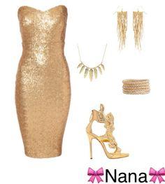 Soirée Gold et bien vous savez quoi mettre ;) Créer par Nana.