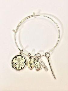Anatolia Pt Physical The Pharmacy Technician Silver Tone Charm Bracelet V2