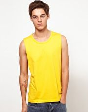 ASOS Sleeveless T-Shirt With Bound Scoop Neck