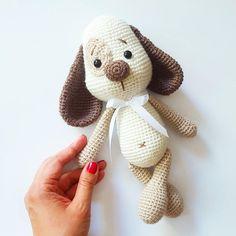 Crochet Dog Patterns, Amigurumi Patterns, Doll Patterns, Cute Crochet, Crochet Dolls, Dog Crochet, Crochet Mignon, Amigurumi Doll, Crochet Animals
