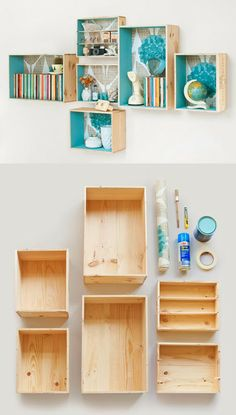 New room decor ideas diy for girls shelves Ideas