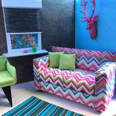 pinkrosemh Couch Möbel für Barbie Haus Puppenstube Monster Puppe