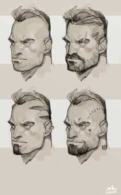 Face variations for a personal project.nnArtrage/Corel Painter 12 ★ || CHARACTER DESIGN REFERENCES invites you to support the Artists and Studios featured here by buying this and other artworks in their official online stores • Find us on www.facebook.com/CharacterDesignReferences | www.pinterest.com/characterdesigh | www.youtube.com/user/CharacterDesignTV and learn more about #concept #art #animation #anime #comics || ★
