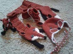 fox scarf set