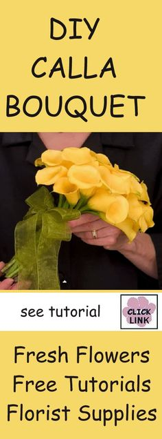 How to Make a Calla Bridal Bouquet - Easy Flower Tutorials - Learn how to make DIY wedding bouquets, corsages, boutonnieres, and centerpieces.  Buy discount fresh flowers and florist supplies