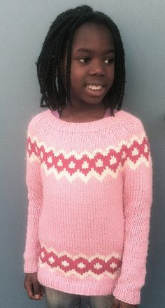 Greetings from Iceland Children's Sweater   Free knitting pattern