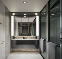 everything about this bathroom but particularly the large steel frame doors for the shower and toilet Bathroom Spa, Bathroom Toilets, Modern Bathroom, Master Bathroom, Washroom, Bathroom Vanities, Bad Inspiration, Bathroom Inspiration, Villa Marrakech