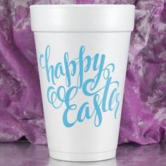Printed & Ready to Ship 16 oz. Foam Eater Cup CALLIGRAPHY EASTER