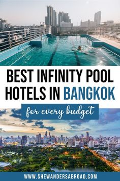 Do you want to make your Bangkok trip even more memorable? Book one of these incredble Bangkok hotels with infinity pool for an unforgettable experience! Thailand travel tips | Bangkok travel tips | Where to stay in Bangkok | Best hotels in Bangkok with pool | Infinity pool with Bangkok skyline view | Pool hotels in Bangkok | Luxury Bangkok hotels with view | Best rooftop infinity pools in Bangkok | Places to stay in Bangkok | Budget hotels in Bangkok with pool | Bangkok hotels with rooftop… Bangkok Trip, Bangkok Hotel, Bangkok Travel, Asia Travel, Thailand Honeymoon, Thailand Travel Guide, Budget Hotels, Hotels And Resorts, Hotels With Infinity Pools