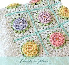 Dada's place: Victorian flower crochet baby blanket pdf pattern